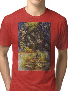 Claude Monet - Corner Of A Pond With Water lilies , Impressionism , Flowers ,Vintage Tri-blend T-Shirt