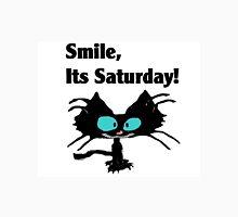 "A Black Cat says ""Smile, it's Saturday!"" Unisex T-Shirt"