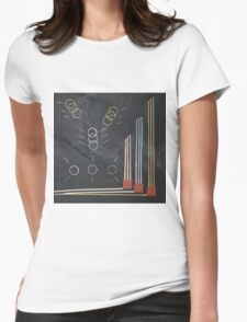 Gold silber bronze olympia Womens Fitted T-Shirt