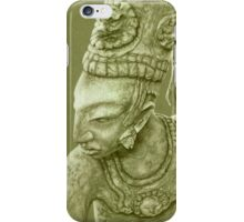 mayan nobleman green iPhone Case/Skin