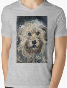 Claude Monet - Dog , Fine Artб Impressionism Mens V-Neck T-Shirt