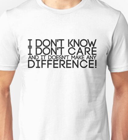 Don't Care Unisex T-Shirt