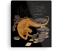 The Book Wyrm Metal Print