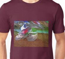 """The amazing effect of the slow speed 3  (c)(t) a PAINT  with humor ! """"Kiss the cool effect"""" without digital effects with compact kodak z 1285! on 29.07.2012 Unisex T-Shirt"""