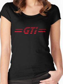 VW GOLF GTI RETRO BACKFLASH Women's Fitted Scoop T-Shirt