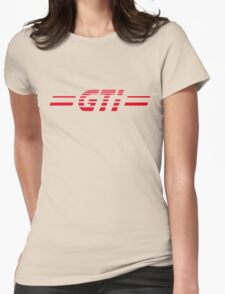 VW GOLF GTI RETRO BACKFLASH Womens Fitted T-Shirt