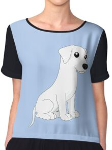 White Dog Chiffon Top