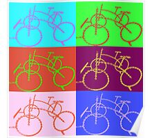 bike chain composition 1 Poster