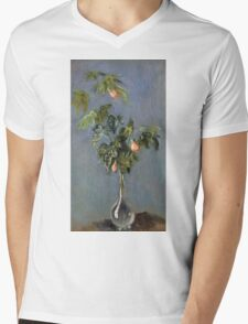 Claude Monet - Flowers In A Vase Impressionism Mens V-Neck T-Shirt