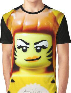 Lego Tiger Woman minifigure Graphic T-Shirt
