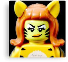 Lego Tiger Woman minifigure Canvas Print