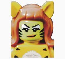 Lego Tiger Woman minifigure One Piece - Long Sleeve