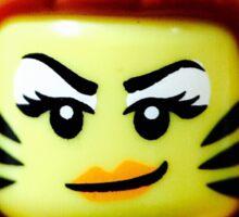 Lego Tiger Woman minifigure Sticker