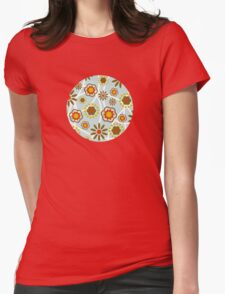 Floral Pattern Womens Fitted T-Shirt