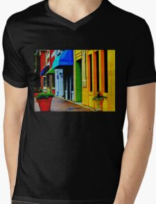 Marietta Square - awnings Mens V-Neck T-Shirt