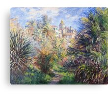 Claude Monet - Gardens Of The Villa Moreno Impressionism Vintage  Canvas Print