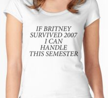 Britney Quote Women's Fitted Scoop T-Shirt