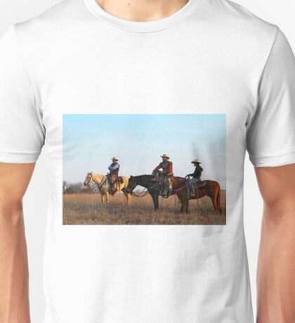 Three Flint Hills Cowboys Unisex T-Shirt