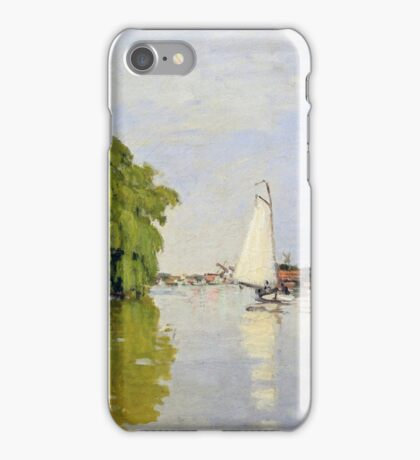 Claude Monet - Houses On The Achterzaan Impressionism iPhone Case/Skin