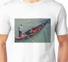 Gondolier in Venice Unisex T-Shirt
