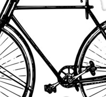 Old Victorian bicycle graphic art Sticker