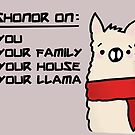 Dishonor on Your Llama! by Stacey Roman