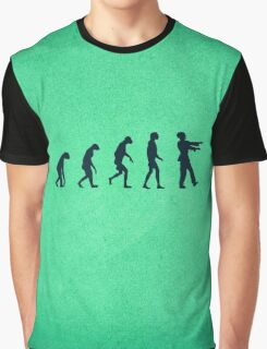 Evolution of Zombies (Zombie Walking Dead) Graphic T-Shirt