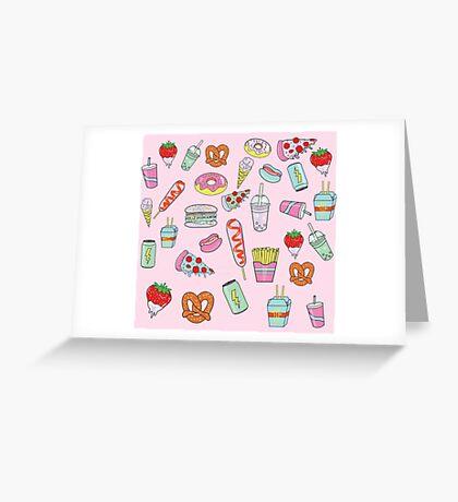 Dreaming Of Junk Food Greeting Card