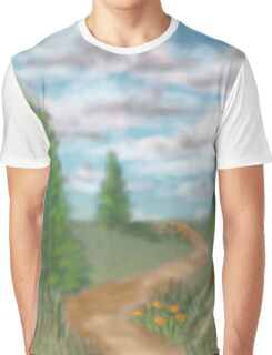 Landscape with fir trees Graphic T-Shirt