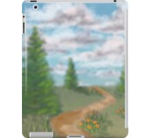 Landscape with fir trees iPad Case/Skin