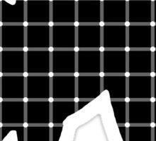 Black Cat Optical Illusion Effect Sticker