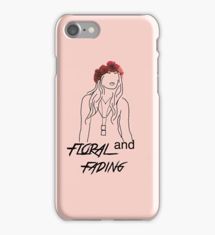 Floral and fading outline iPhone Case/Skin