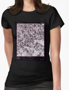 USGS TOPO Map Alabama AL Nectar 304657 1975 24000 Inverted Womens Fitted T-Shirt