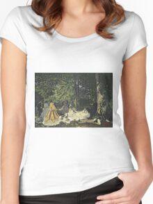 Picnic - Claude Monet - Le Dejeuner Sur L Herbe 1865 Women's Fitted Scoop T-Shirt