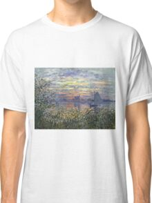 Marine View With A Sunset - Claude Monet Impressionism Classic T-Shirt