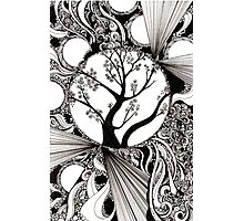 Spring Splendor, Ink Drawing Photographic Print