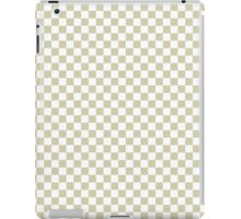Spanish Moss and White Classic Checkerboard Repeating Pattern iPad Case/Skin