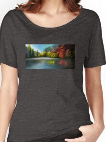 the trees at the lake Women's Relaxed Fit T-Shirt