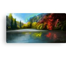 the trees at the lake Canvas Print