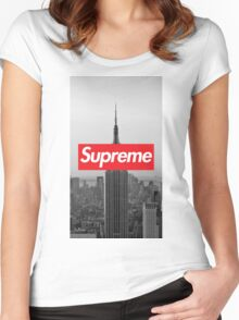 Supreme New York  Women's Fitted Scoop T-Shirt