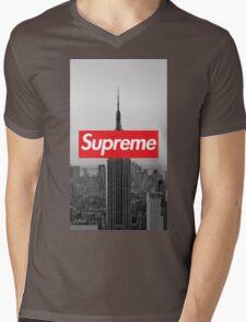 Supreme New York  Mens V-Neck T-Shirt