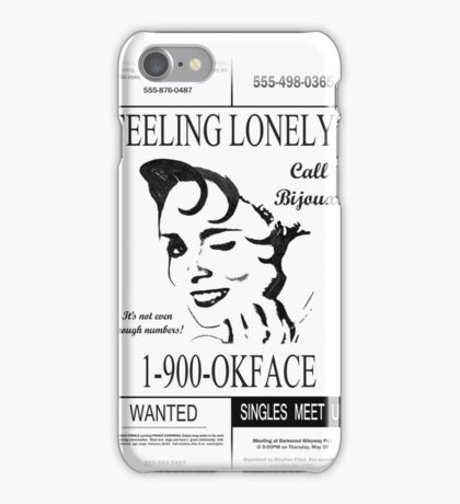 30 Rock (1-900-OKFACE) iPhone Case/Skin