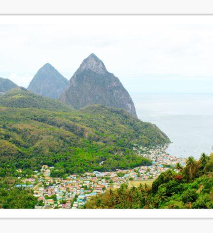 St. Lucia Landscape Sticker