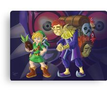 Link and the Happy Mask Salesman Canvas Print