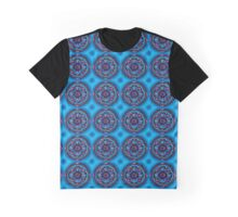 Turquiose Psychedelic Merchandise Graphic T-Shirt