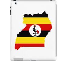 Flag Map of Uganda  iPad Case/Skin