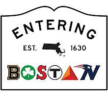Entering Boston Photographic Print
