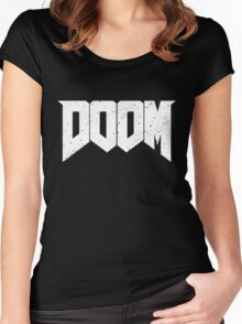 DOOM - WHITE Women's Fitted Scoop T-Shirt