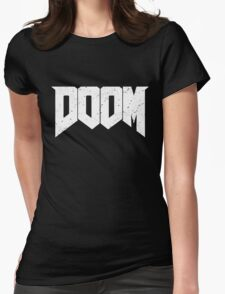 DOOM - WHITE Womens Fitted T-Shirt