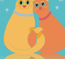 Winter Cats Sticker